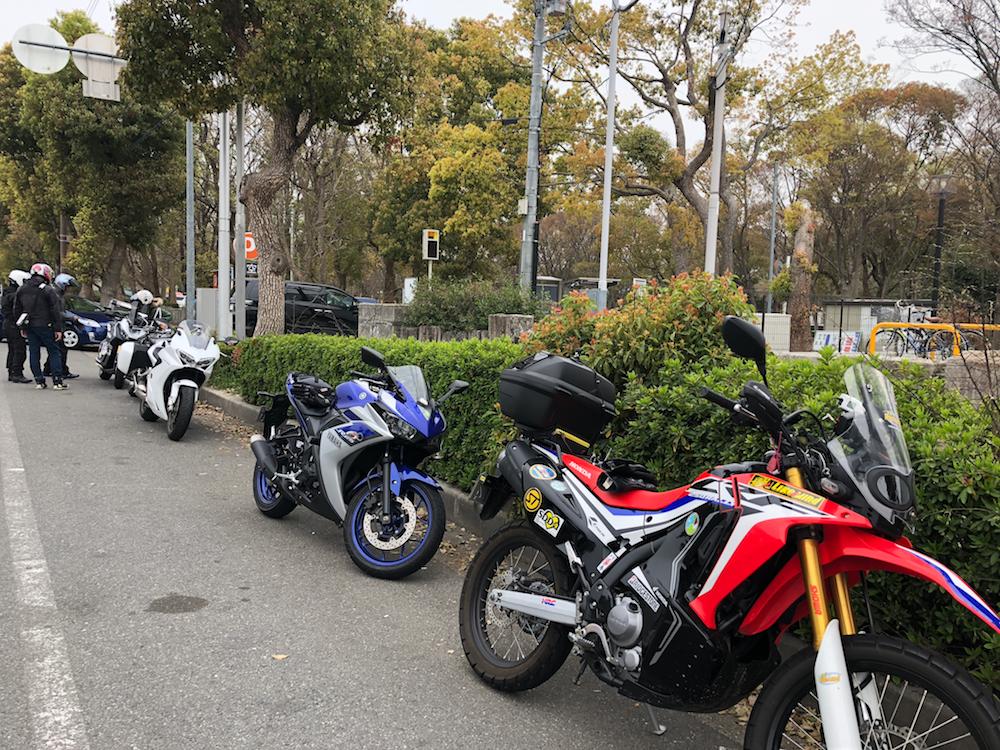 大阪城公園に集合