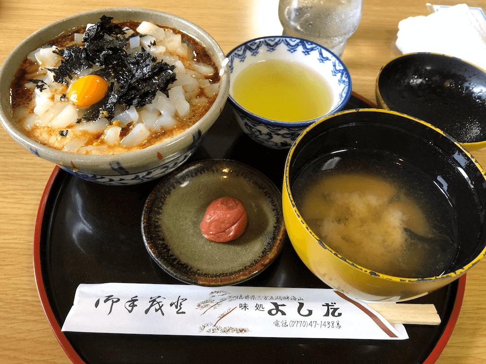 ドライブインよしだ名物「イカ丼」は飲み物だ!福井県ツーリングを楽しむ。