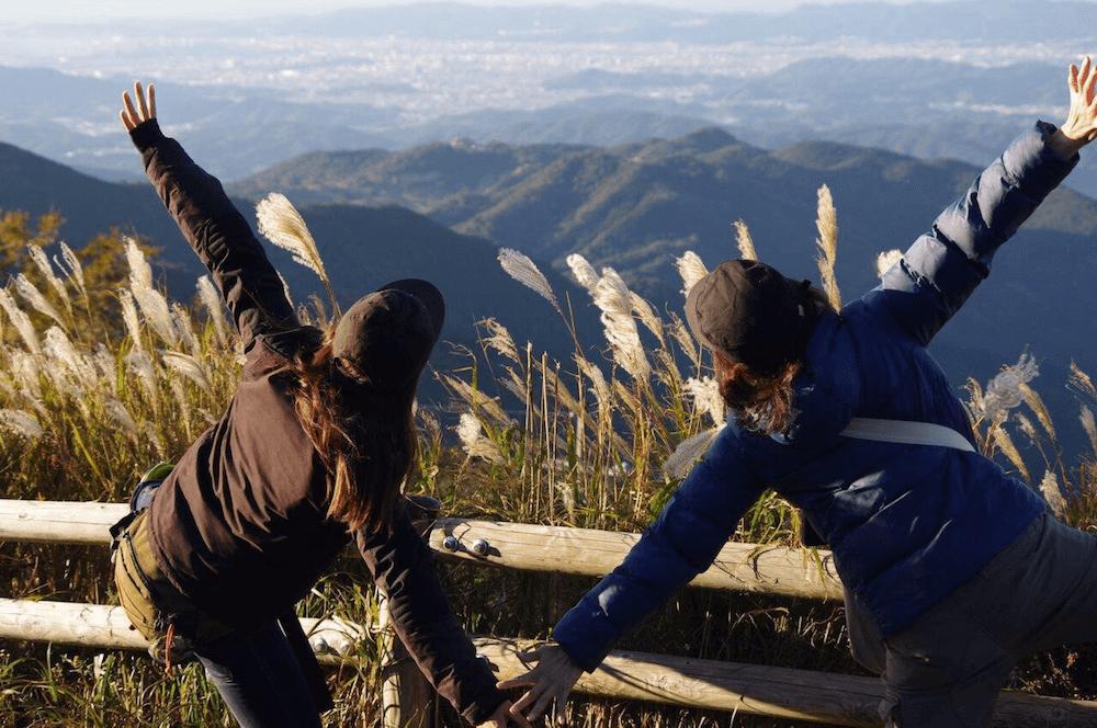 蔵王橋とススキ生石高原の関西秋ツーリング