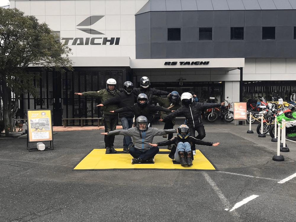 RSタイチ大阪で記念撮影