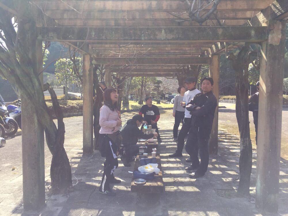 豊浦公園 バーベキュー 野外コーヒー