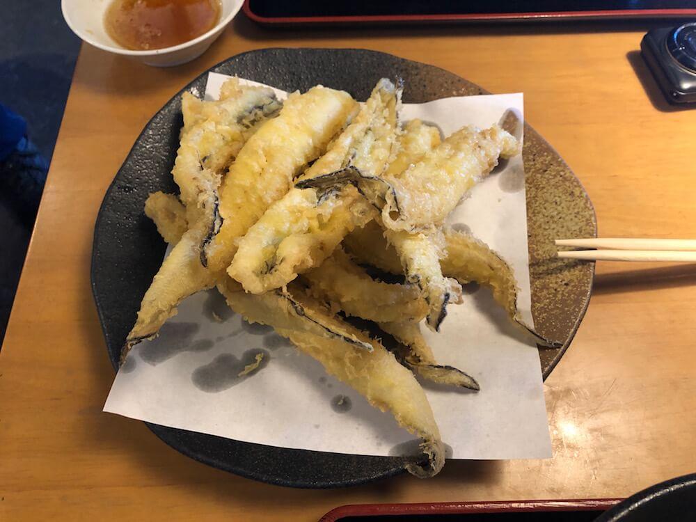 泉州しらす丼「きんちゃく屋」穴子の天ぷら