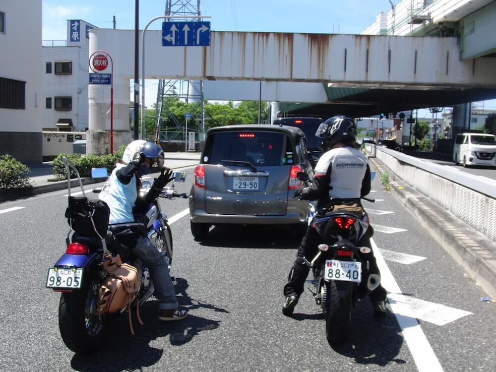 泉州漁港 バイク